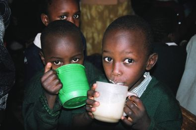 School lunch program in Kibera, Kenya